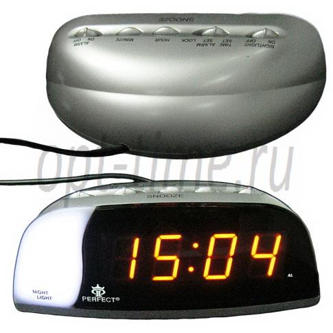 сетевые часы Perfect E090 amber оптом